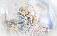 清澈 高级迪奥风高冷银灰色吊顶装饰布置唯美婚礼
