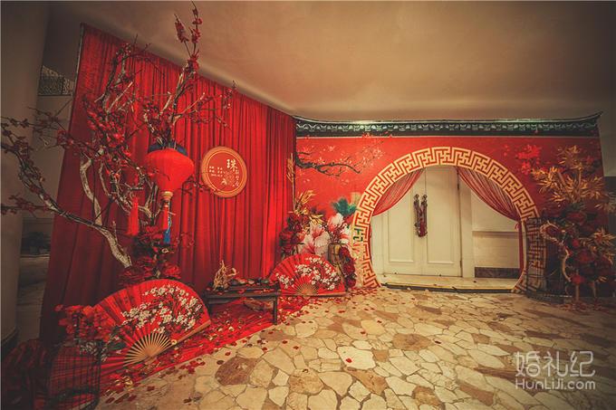 【忆江南】《珠联璧合》红色中国风 中式婚礼套餐图片