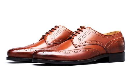 经典进口小牛皮手工定制皮鞋