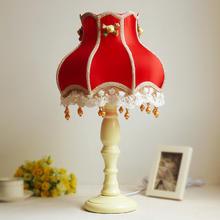 卧室书房田园欧式现代装饰灯婚庆台灯婚房创意床头灯公主结婚礼物