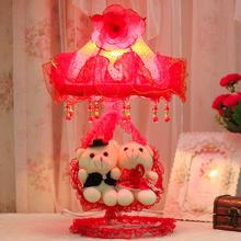 红色婚庆婚房台灯卧室送朋友闺蜜创意结婚礼物实用礼品新婚床头灯