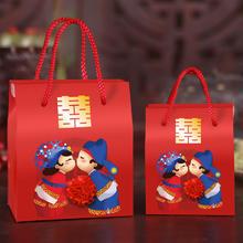 中国风结婚创意喜糖盒子婚庆用品喜糖袋中式婚礼糖果盒