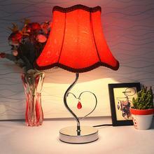 卧室床头灯结婚礼物红色婚房台灯时尚实用婚庆礼品装饰摆件灯