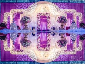 婚礼鲜花布置【网球场改造】云中天城婚礼。
