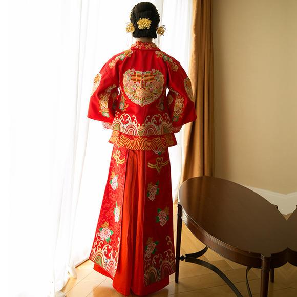秀禾服 新款中式敬酒服旗袍秀禾服新娘礼服嫁衣XH611