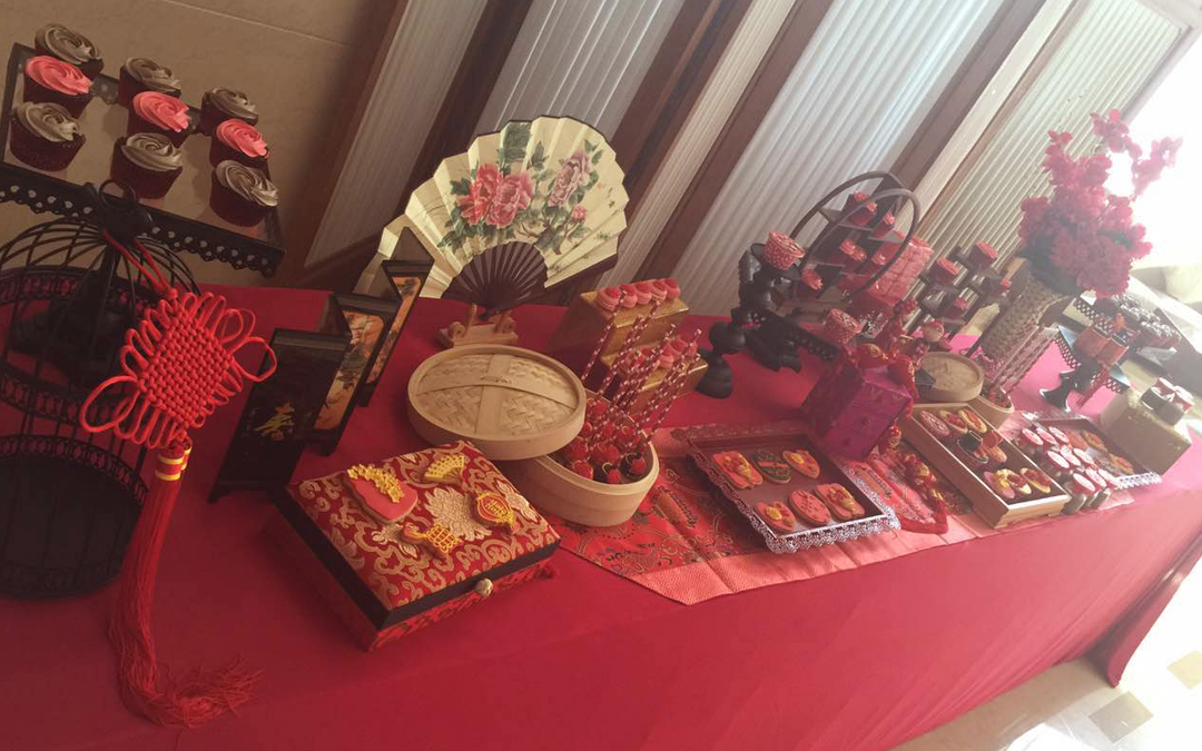 新中式创意甜品台图片