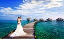 马代 双人往返机票4晚5星酒店 样片团队婚纱拍摄