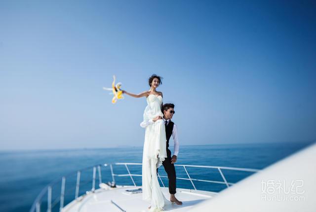 超值套餐豪華游輪 薰衣草花海  外灘夜景 -婚紗攝影圖片