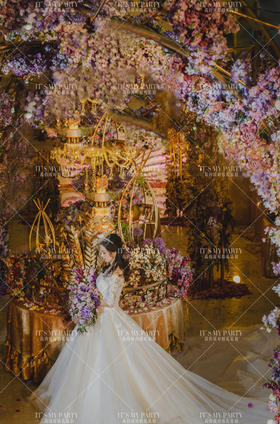紫色蔷薇主题婚礼