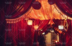 凤双栖中式婚礼布置