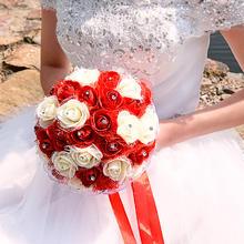 结用品婚庆手捧花婚礼新娘手抛花球 创意仿真手捧花束