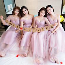 伴娘服长款2016新款韩式伴娘团礼服晚礼服长袖LF638