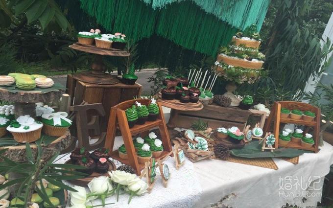 户外森系甜品区分享展示