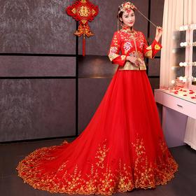 古代新娘婚纱礼服