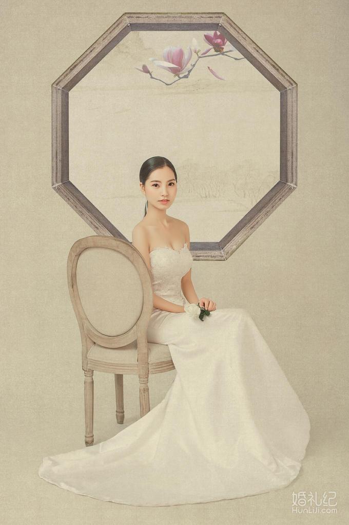 【蓝朵摄影】简约工笔画,特殊工艺定制婚纱照