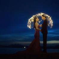 """【纯色摄影】【爆款】夜景主题""""花好月圆""""婚纱写真"""
