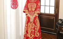 【送秀禾头饰三件套】秀禾服新娘中式礼服嫁衣 奢华刺绣复古