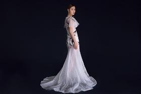 【花鸟的天空婚纱礼服】-最特别的鱼尾