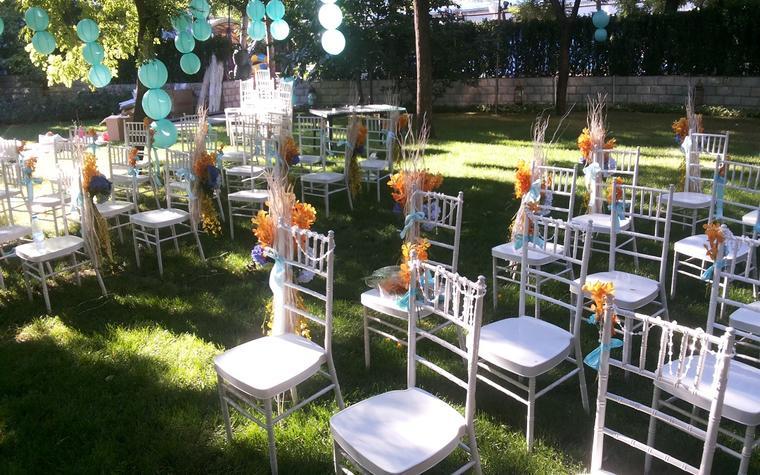 FEEL斐尔婚礼-唐廊餐厅-蒂芙尼蓝草坪婚礼