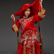 华芬嫁衣-原创秀禾服 手工盘金秀禾装 新娘喜服 中国新娘装