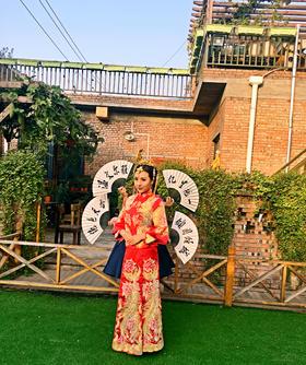 【帝安娜婚纱】中国红系列之龙凤袍