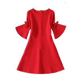 秋冬新娘结婚敬酒服红色修身连衣裙晚宴会回门礼服