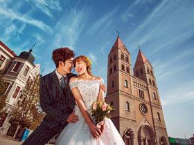 《神圣教堂》欧式婚纱照