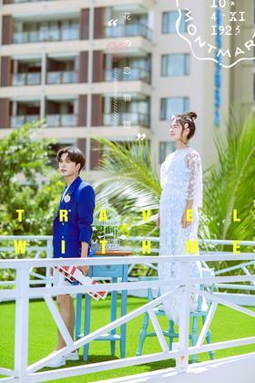 【三亚站】森系婚纱照作品欣赏 绿地摇椅