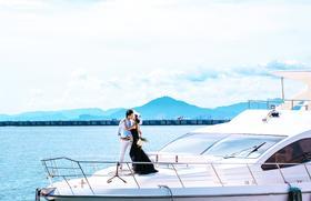 三亚站作品欣赏-游艇婚纱照
