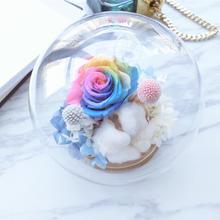 独家设计结婚礼物送女友礼物生日水晶球进口永生花摆件花