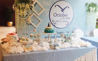 心意摩卡烘焙婚礼甜品台