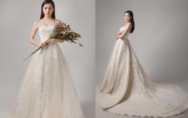白色梦幻/欧美款进口/大拖尾婚纱
