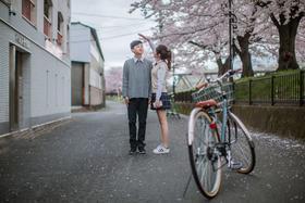 日本蜜月旅行街景婚纱照