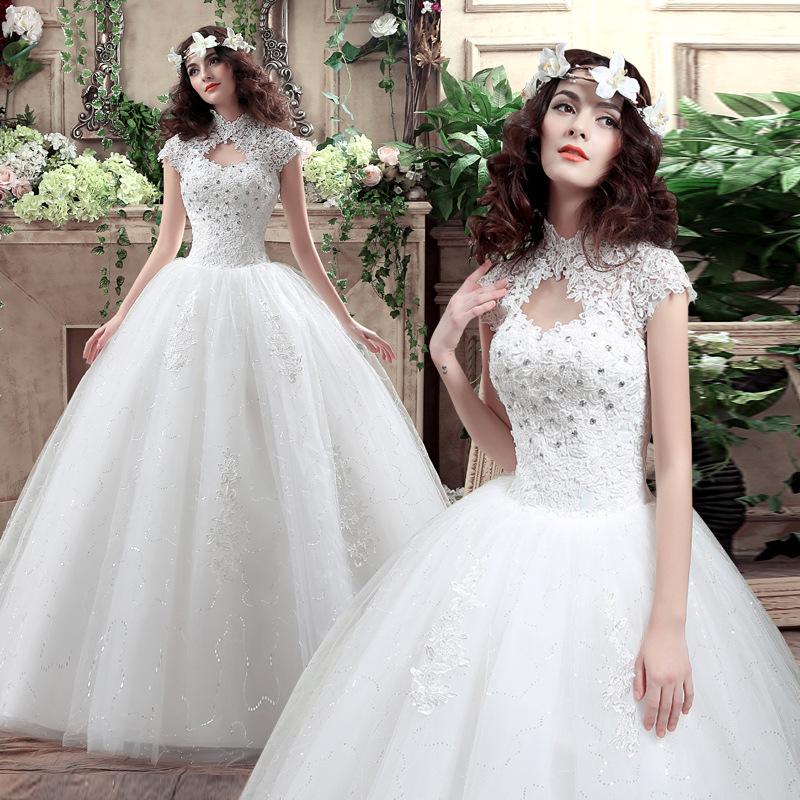 复古婚纱礼服2016新款齐地欧式结婚婚纱大码婚纱定做齐地显瘦
