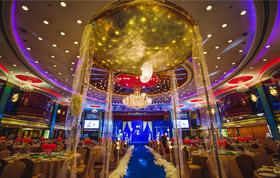 宝蓝色星空婚礼 简约大气星星婚礼 星际主题婚礼