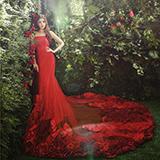 MUSE花园客样对比 花海婚纱照