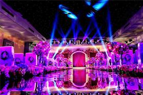 紫色主题婚礼--岳阳农村酒店婚礼案例