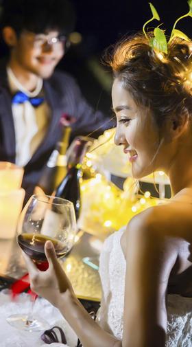 希菲尔全球旅拍【浪漫夜景】美酒加咖啡