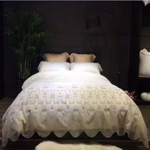 轻奢系列60埃及长绒棉进口花边天真欧莲娜