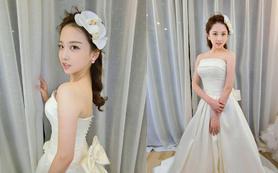[梵希婚纱礼服]韩国进口缎面超酷缎面婚纱