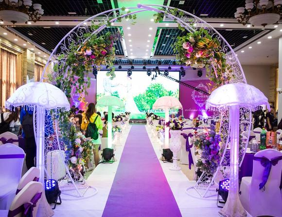 【鹏远婚庆】紫色系完美浪漫婚礼布置