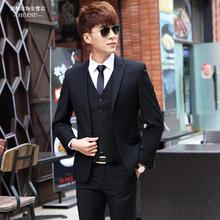 西服套装男士四件套男韩版商务修身小西装新郎结婚礼服职业正装男