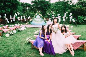 美式乡村风户外草坪婚礼——初见