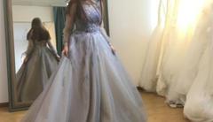1W+定制婚纱 灰色蓝色气质大翻身