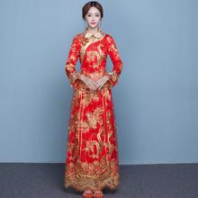 中式新娘服敬酒服大码秀禾服龙凤褂大五福结婚礼服QP616