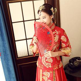 冬新款秀禾服新娘复古敬酒服礼服结婚古装中式嫁衣龙凤褂