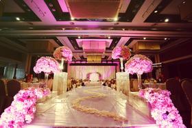 花嫁喜铺成都旗舰店浪漫粉色少女心 婚礼鲜花布置