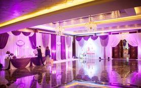 中小型深紫色浅紫色西式婚礼浪漫简约大气含四大金刚