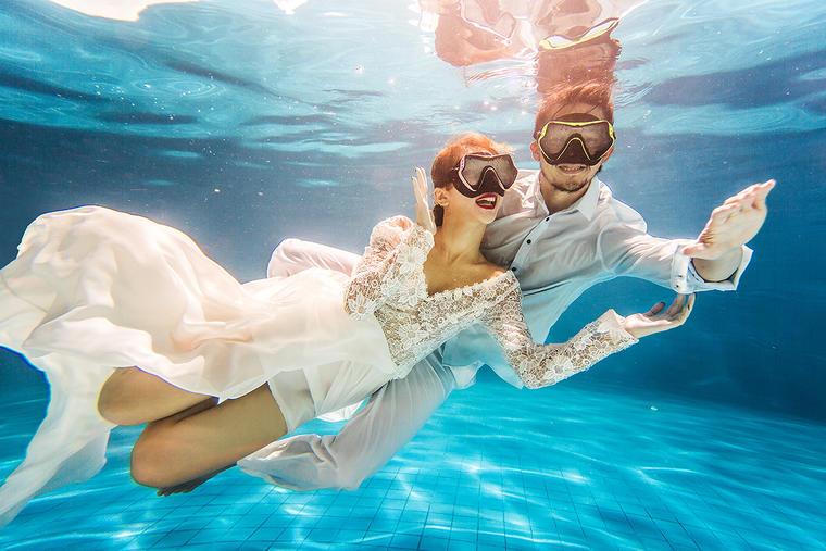 法式印象作品展示《特色水下》婚纱照