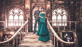 纯色摄影案例赏析《欧式风情婚纱照》